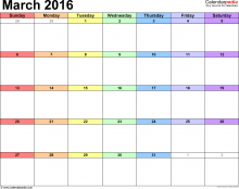語言家三月行事曆Language Plus Living Space March 2016 Calendar